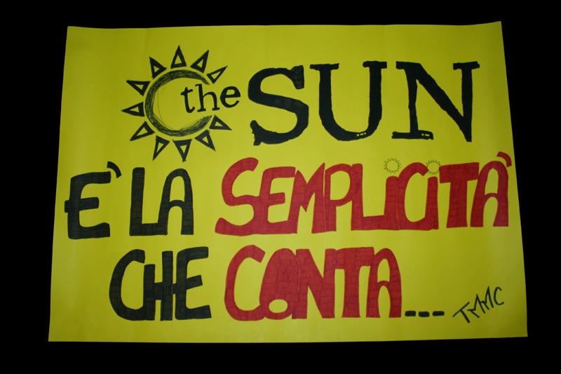 cartellone the sun fan made
