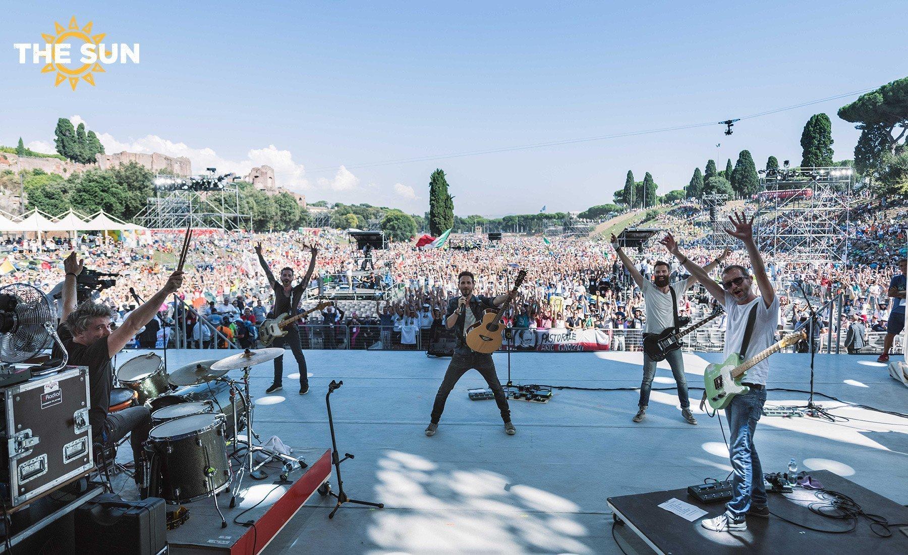the sun rock band live circo massimo